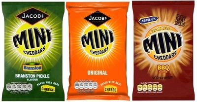 McVities & Jacobs Flavour Mini Cheddars biscuits Baked Snack 30 x 50g