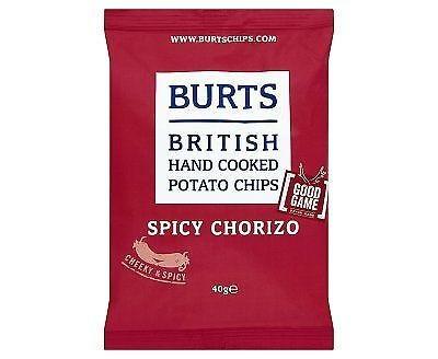 Burts Spicy Chorizo Crisps Gluten Free - 20x40g