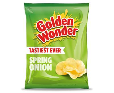 Golden Wonder Spring Onion Crisps 32 x 32.5g
