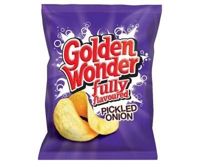 Golden Wonder Crisps  Pickled Onion 32 x 32.5g
