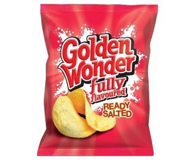 Golden Wonder Ready Salted Crisps 32 x 32.5g