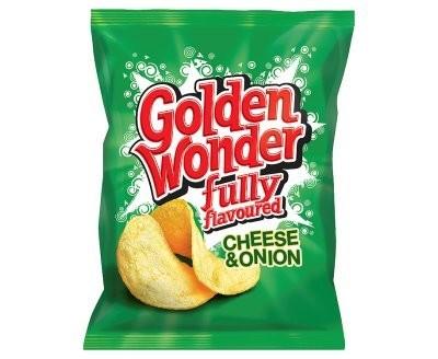 Golden Wonder Crisps Cheese & Onion 32 x 32.5g