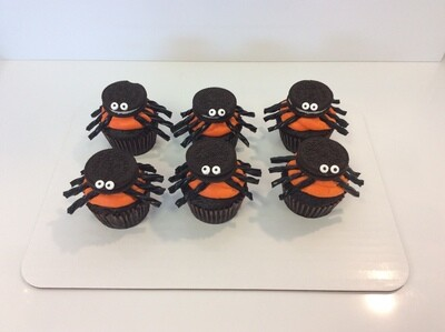 Halloween Spider Decorated Cupcakes