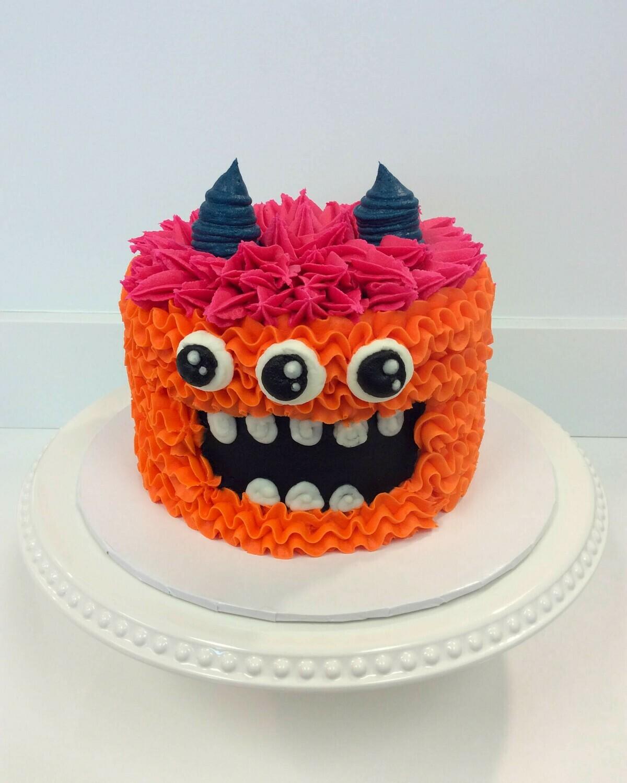 Three Eye Monster Cake
