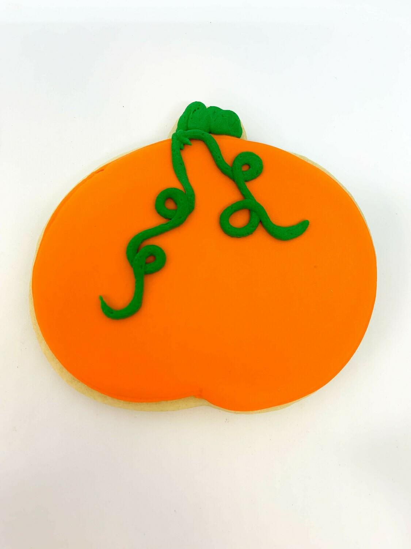 Pumpkin Royal Iced Sugar Cookie