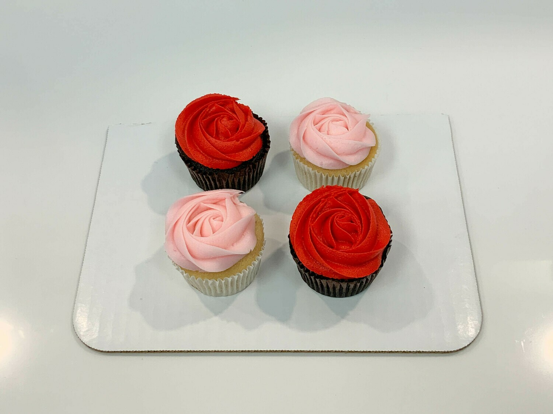 Rosette 4 Pack Cupcakes