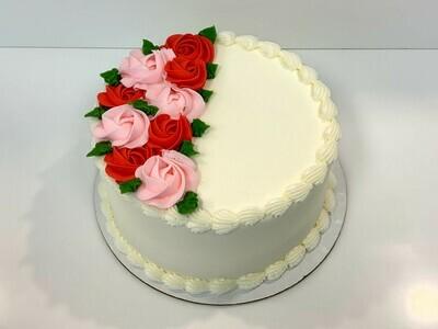 Rosette Spray Decorated Cake