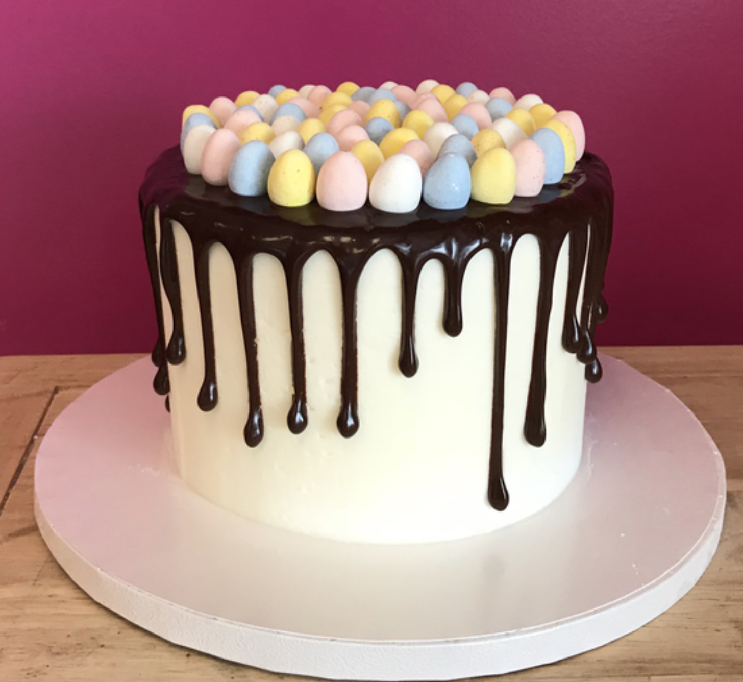 Easter Candy Egg Drip Cake
