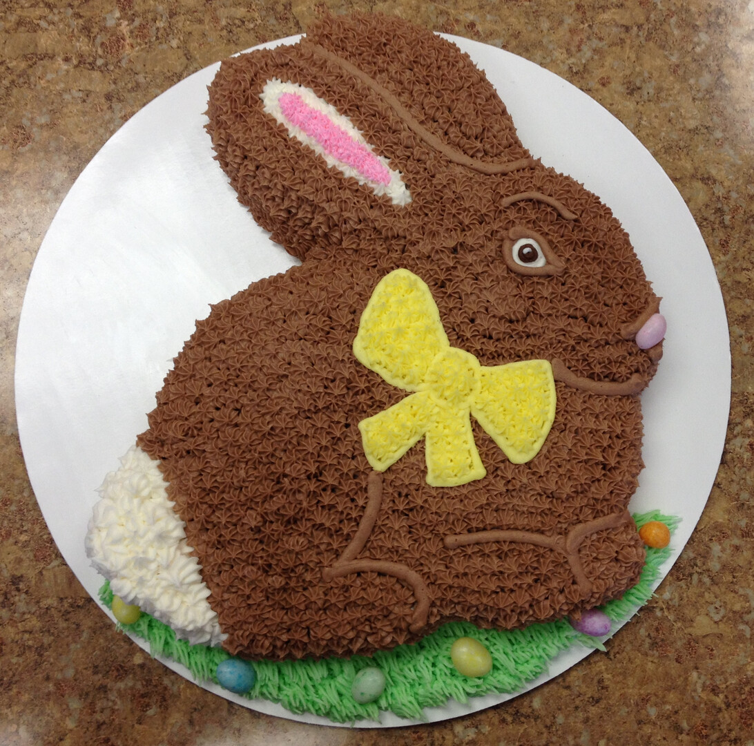 Chocolate Easter Bunny Cake