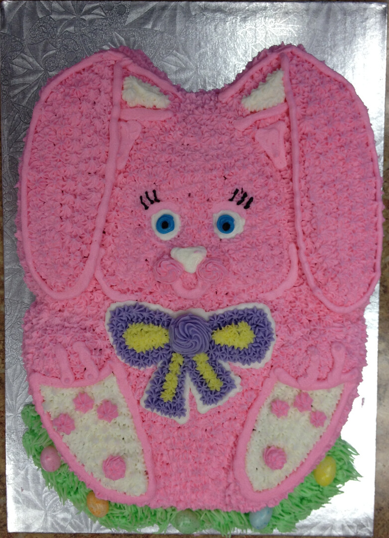Pink Easter Bunny Cake