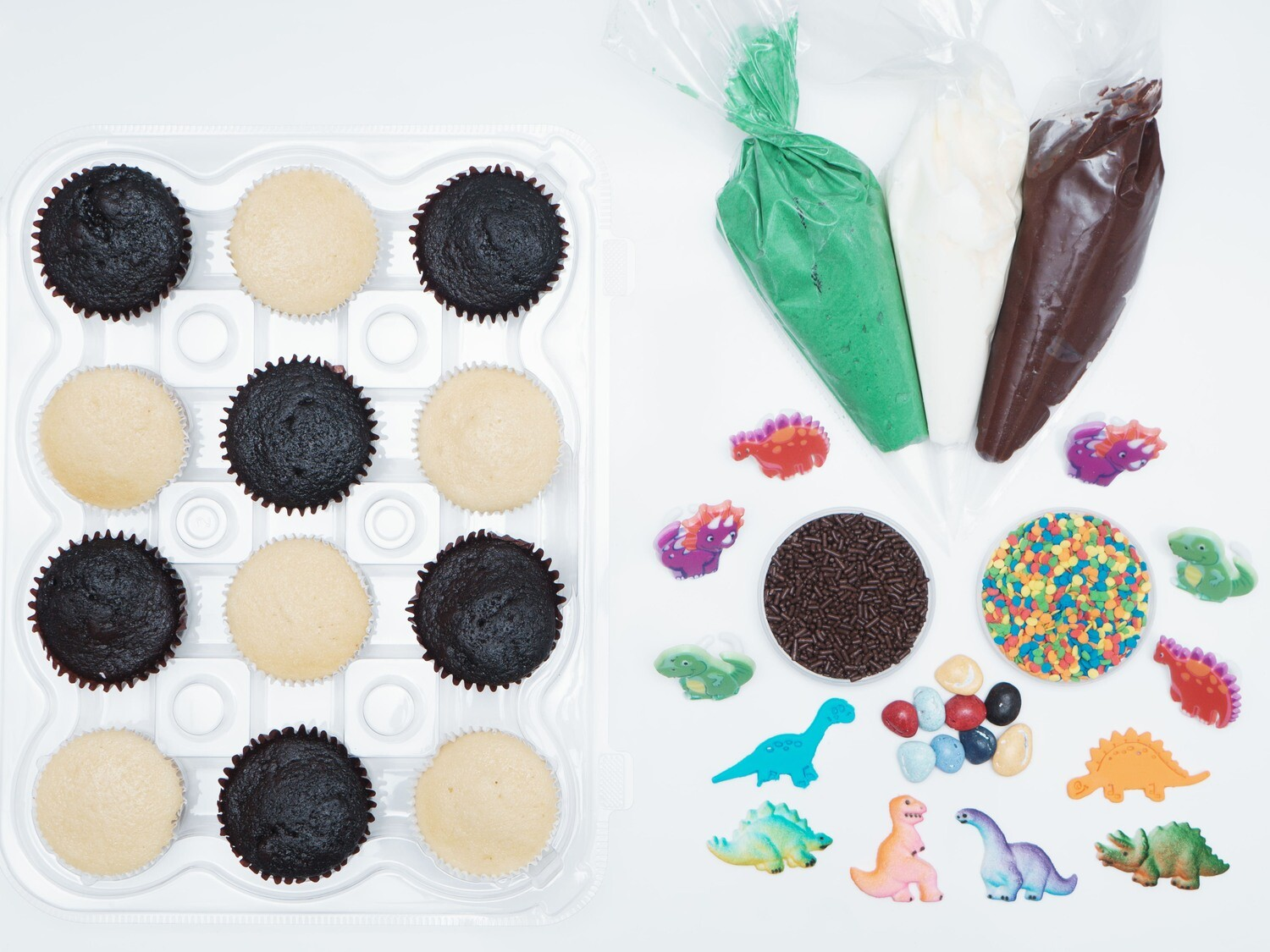 Dinosaur DIY Cupcake Decorating Kit