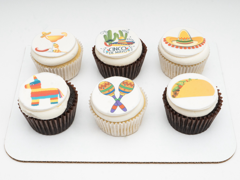 Cinco de Mayo 6 Pack Cupcakes