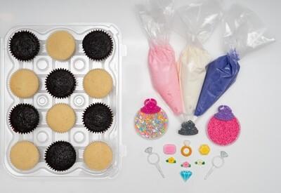 Princess Theme DIY Cupcake Decorating Kit