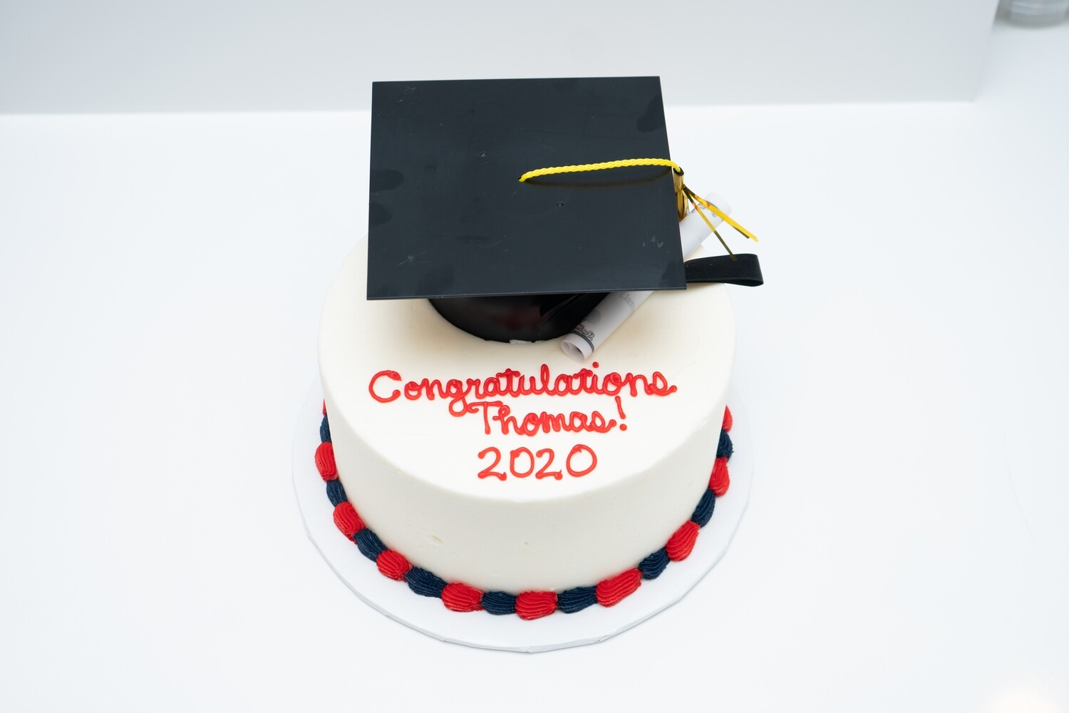 Graduation Cap and Diploma Cake