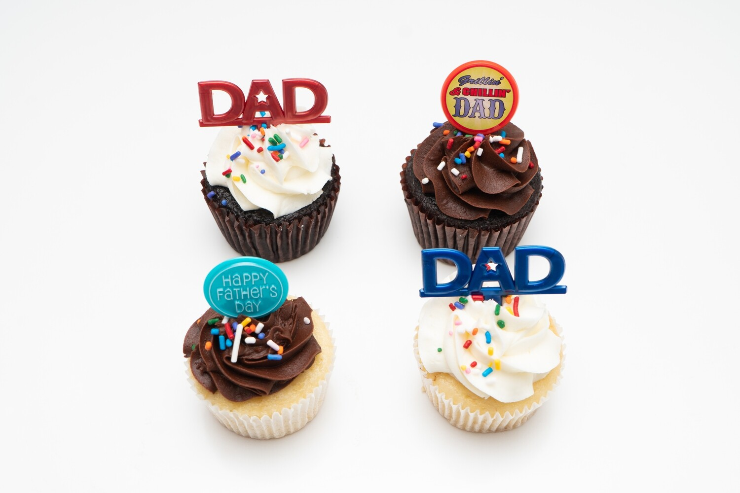 Father's Day 4 Pack of Cupcakes