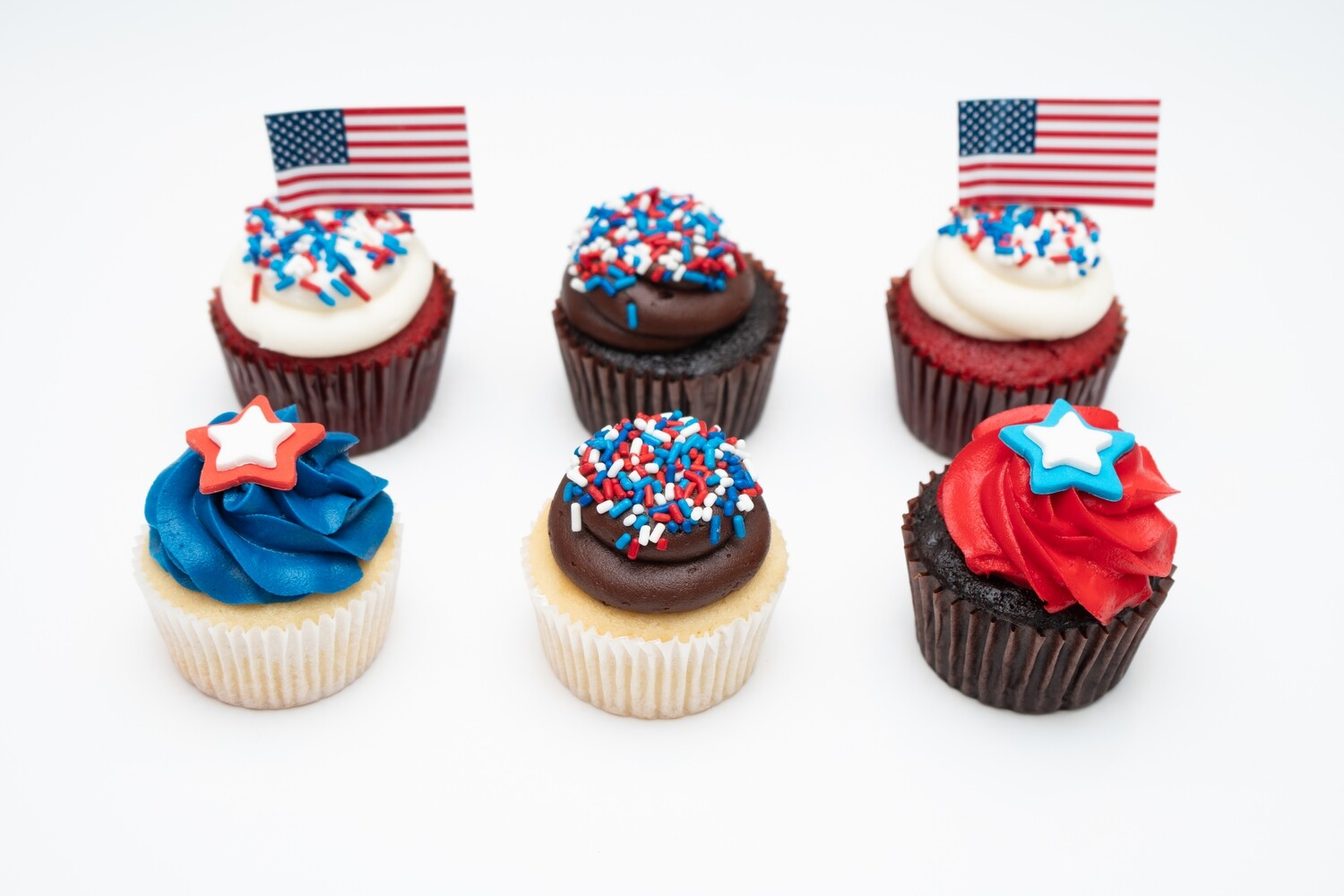 Fourth of July 6 Pack Cupcakes