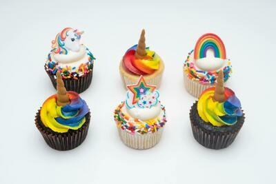 Unicorn Theme Cupcakes