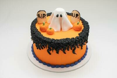 Ghost in the Graveyard Cake