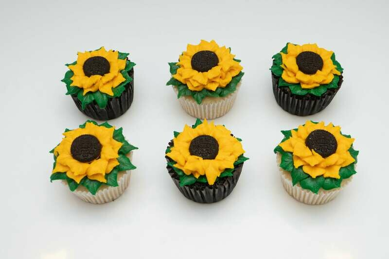 SunFlower Decorated Cupcakes