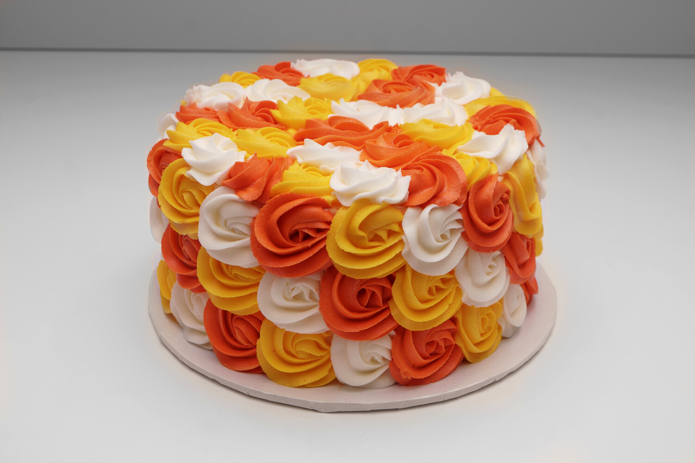 Autumn Rosettes Cake