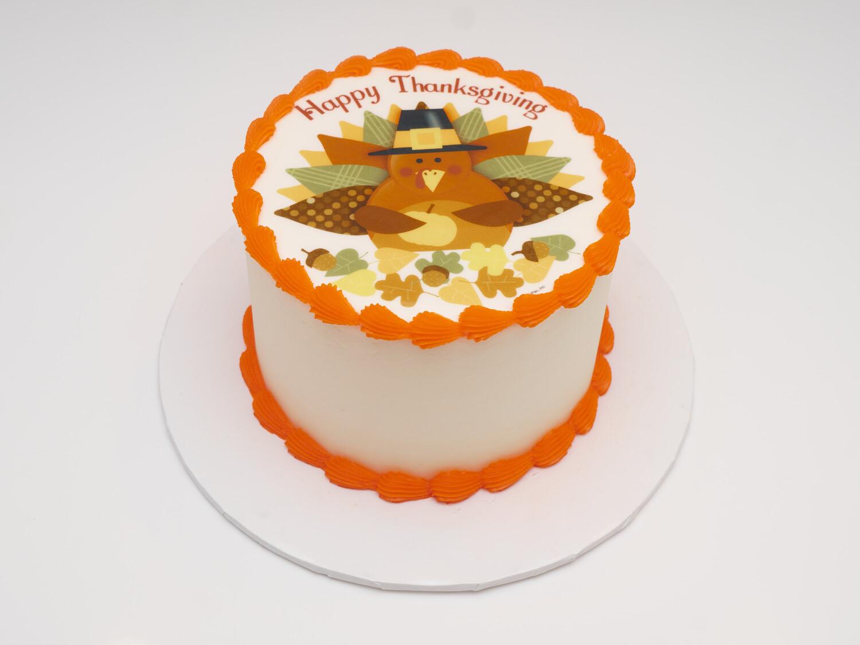 Happy Thanksgiving Image Cake