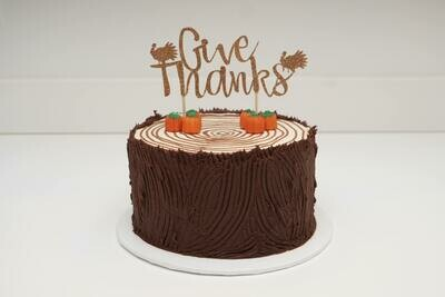 Give Thanks Tree Trunk Cake