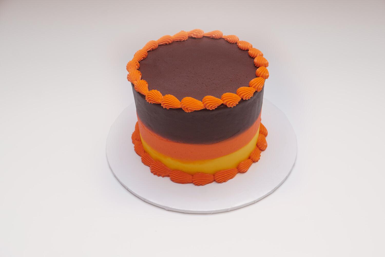 Fall Color Stripe Cake