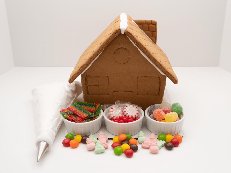 Pre-Built Gingerbread House Decorating Kit