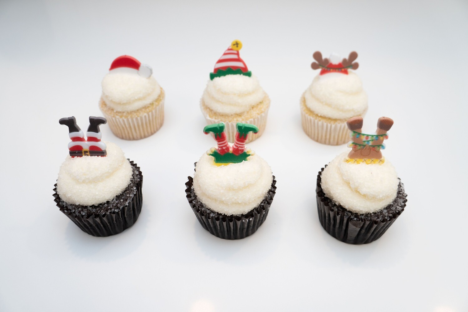 Santa and Santa's Helpers 6 Pack Cupcakes