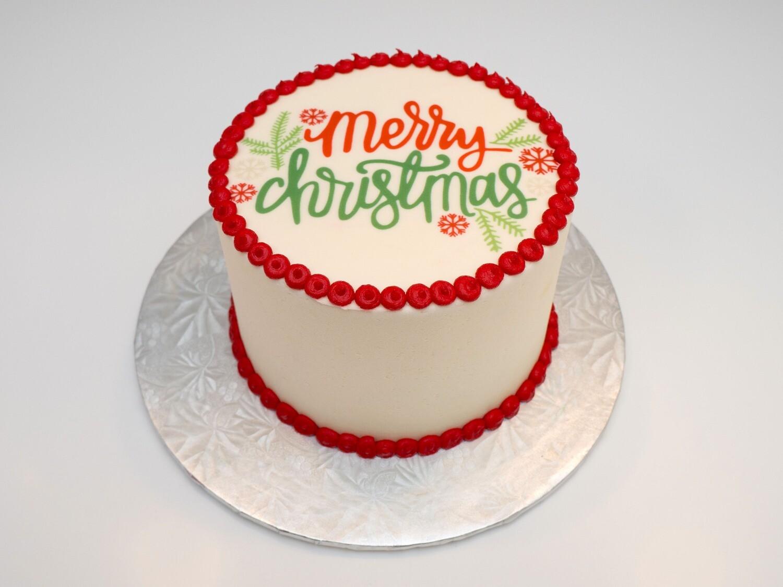 Merry Christmas Image Cake