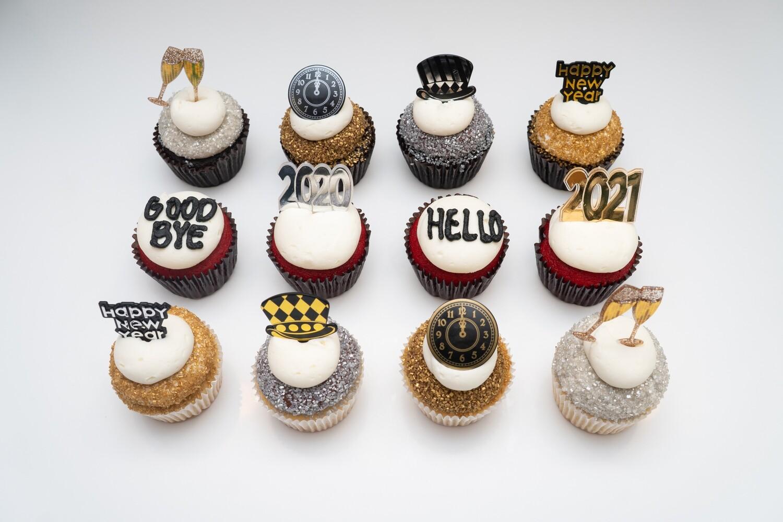 2021 New Years Dozen Cupcakes