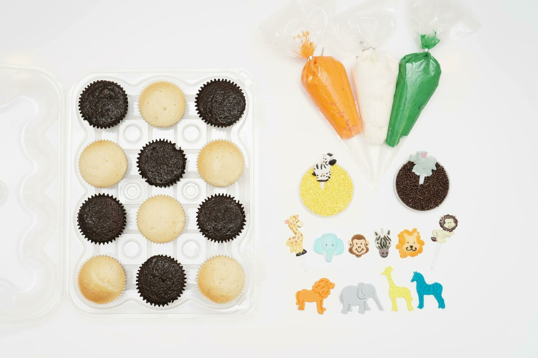 Jungle Animal DIY Cupcake Decorating Kit
