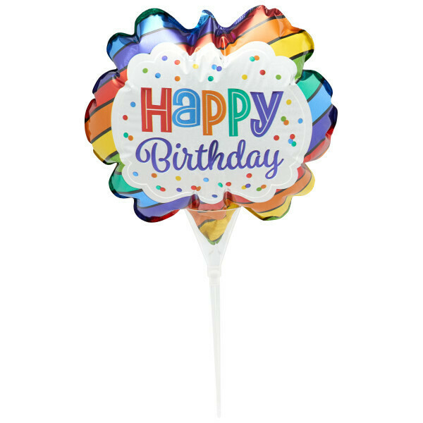Happy Birthday Balloon Cake Topper