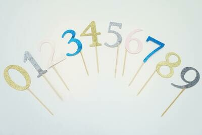 Numbered Cake Toppers