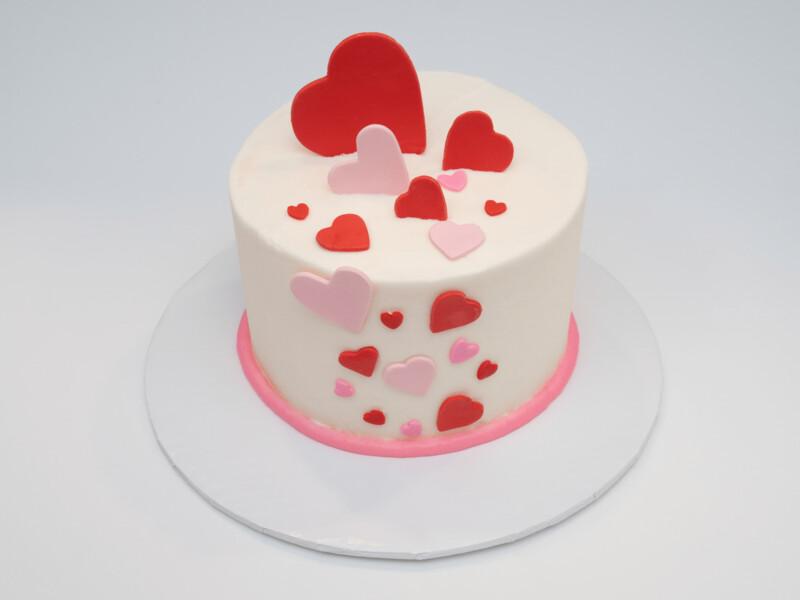 Cascading Hearts Cake