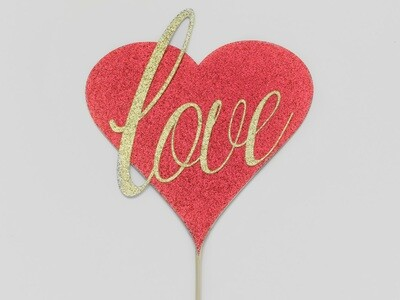 Love Heart Cake Toppers