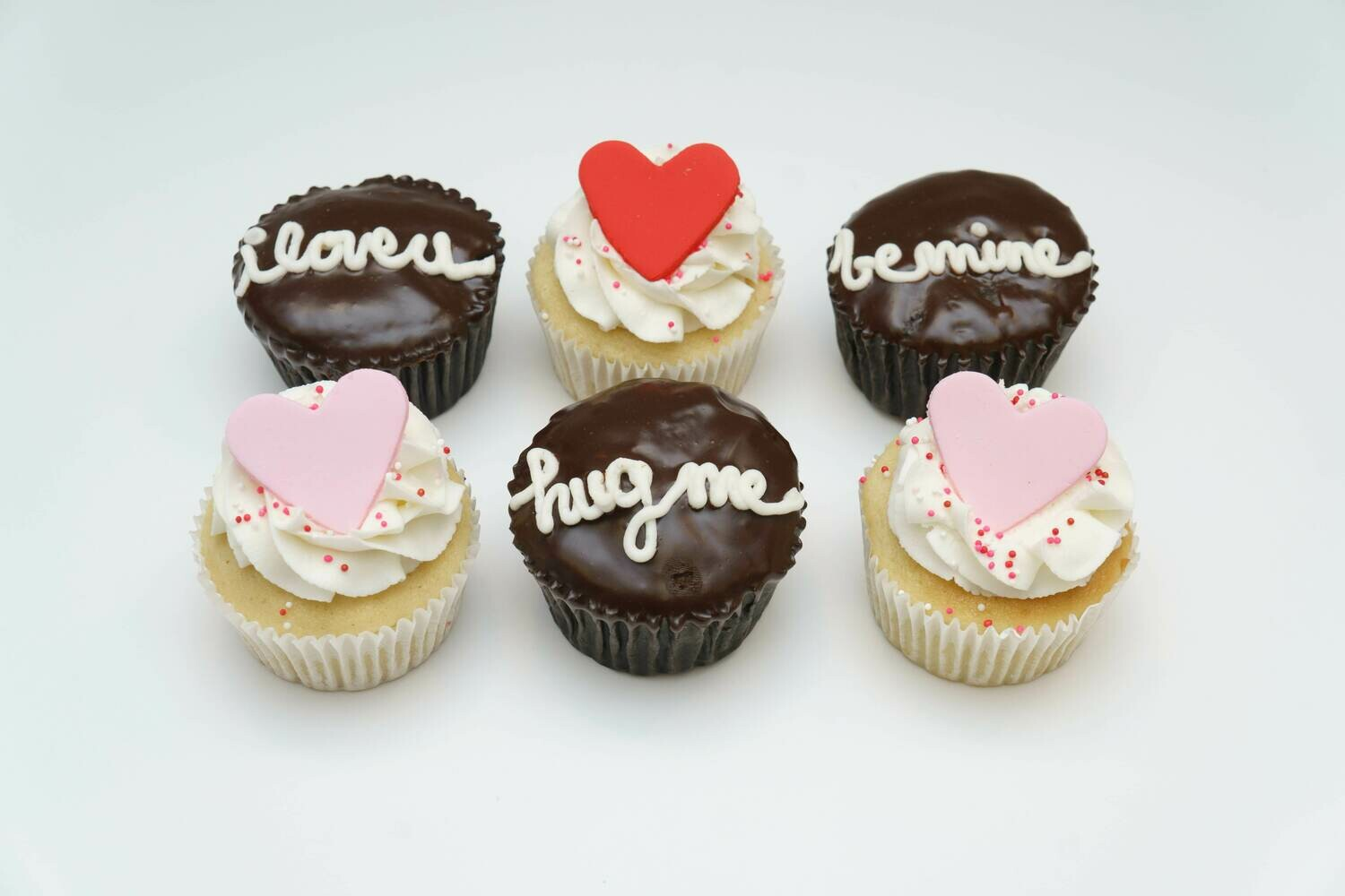 Sweetheart Sayings 6 Pack Cupcakes