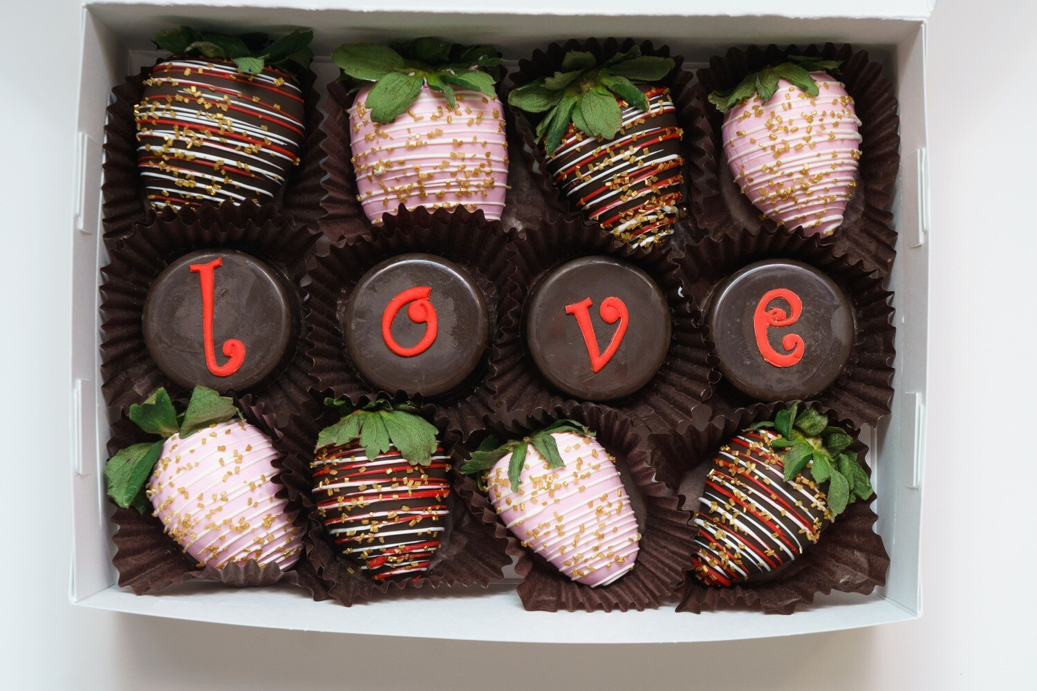 LOVE Chocolate Covered Oreos and Strawberries