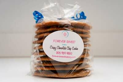 Crispy Chocolate Chip Cookies - Large Pack