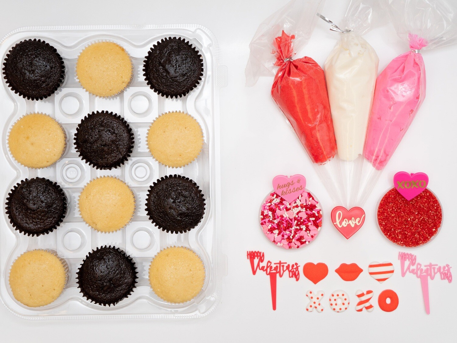 Valentine's Day DIY Cupcake Decorating Kit
