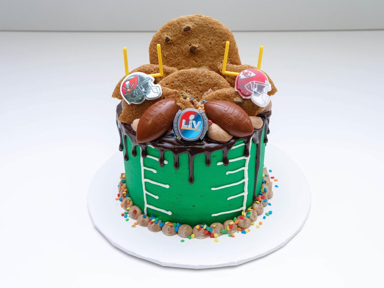 Super Bowl Drip Cake