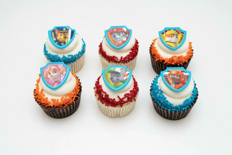 Paw Patrol 6 Pack Cupcakes