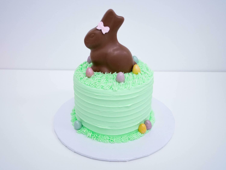 Chocolate Bunny Grass Cake