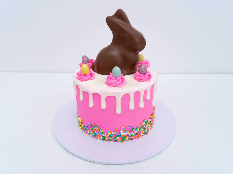 Chocolate Bunny Drip Cake