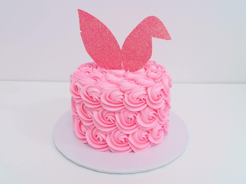 Easter Bunny Ears Rosette Cake