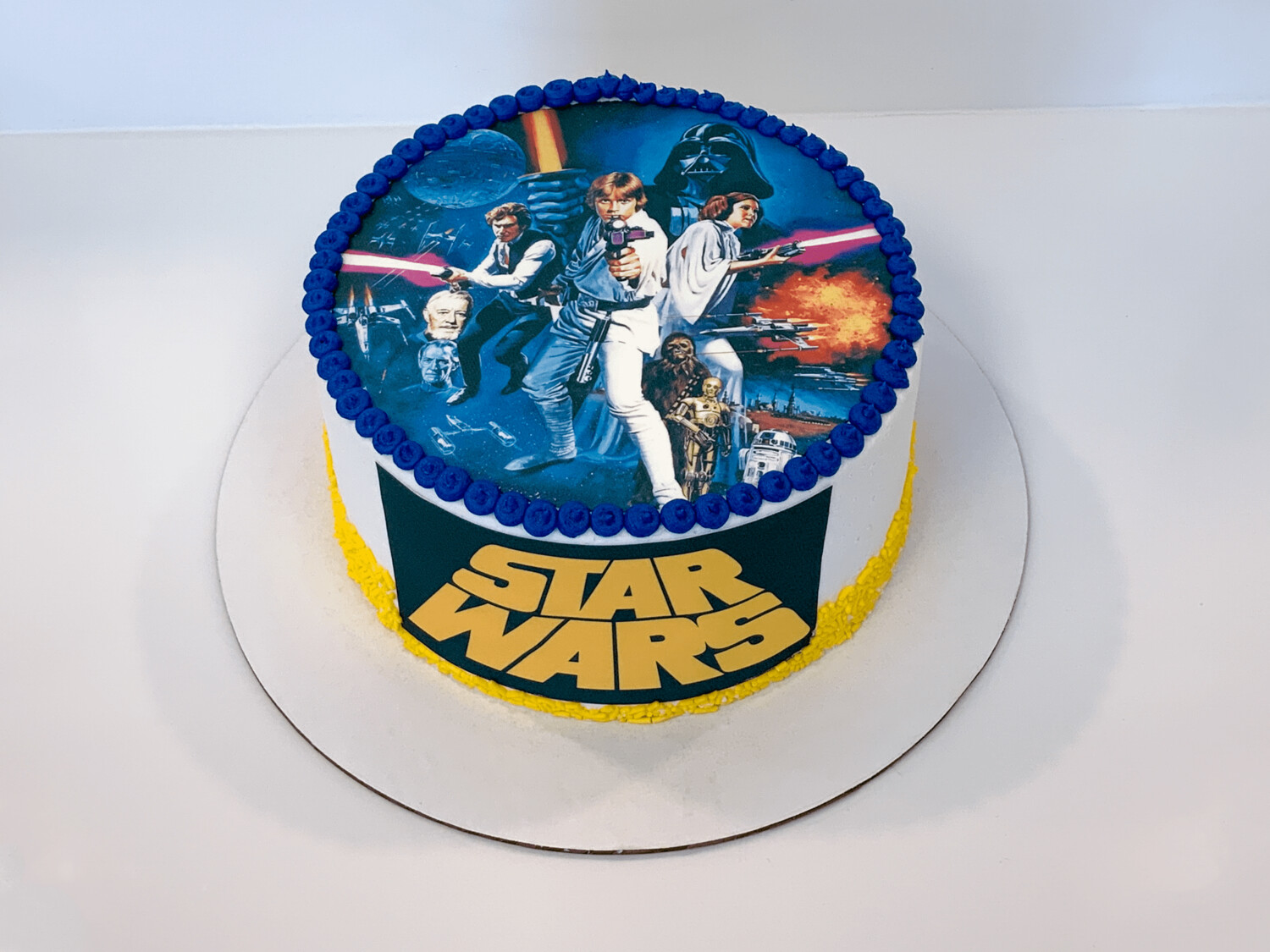 Star Wars Double Image Cake