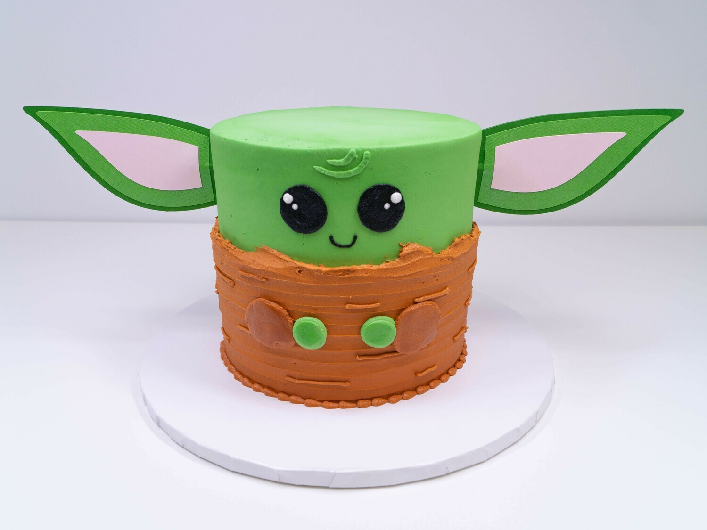 Baby Yoda Ears Cake