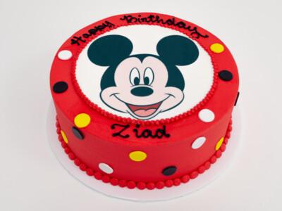Mickey Mouse Image Dot Cake