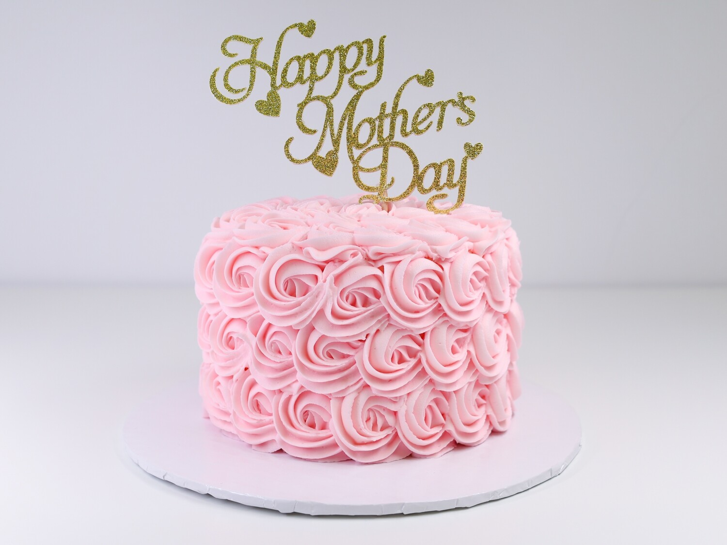 Happy Mother's Day Rosette Cake