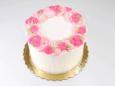 Wreath Of Flowers Cake